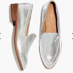 RARE! Cracked Silver Frances Loafer by Madewell!